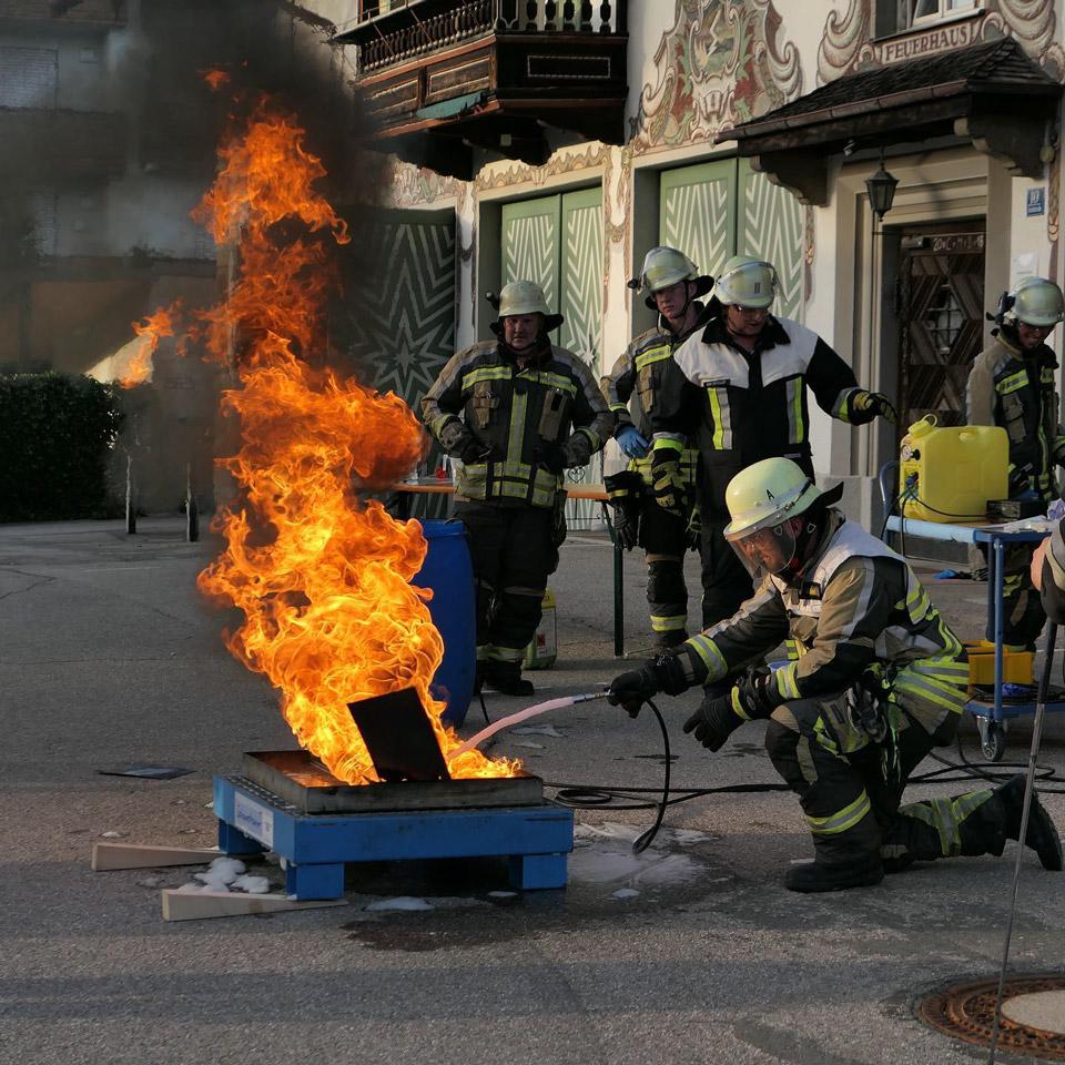 Feuerwehr Tegernsee bei einer Übung